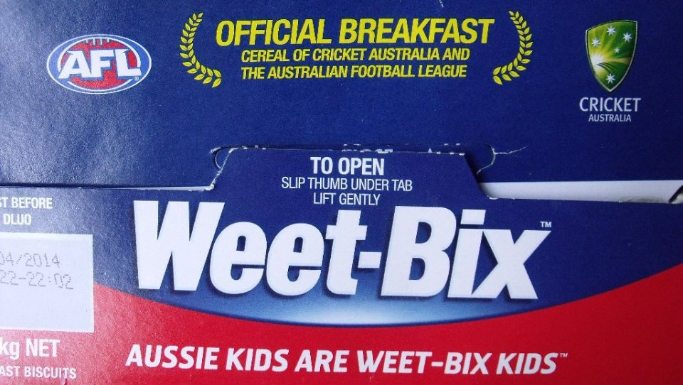 "Hang on - isn't that meant to be ""Kiwi kids are Weetbix kids""?"
